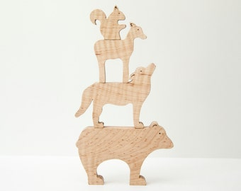 Forrest Friends All-Natural Wooden Stackable Animals