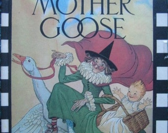 Vintage The Real Mother Goose 1973 Hardcover