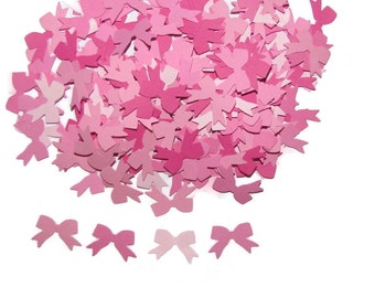 100 Bows in Four Shades of Pink-Embellishments-Scrap Booking, Confetti