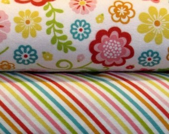 STORE CLOSING Sale Riley Blake Fancy Free FLANNEL 1 yard bundle 2 yards total