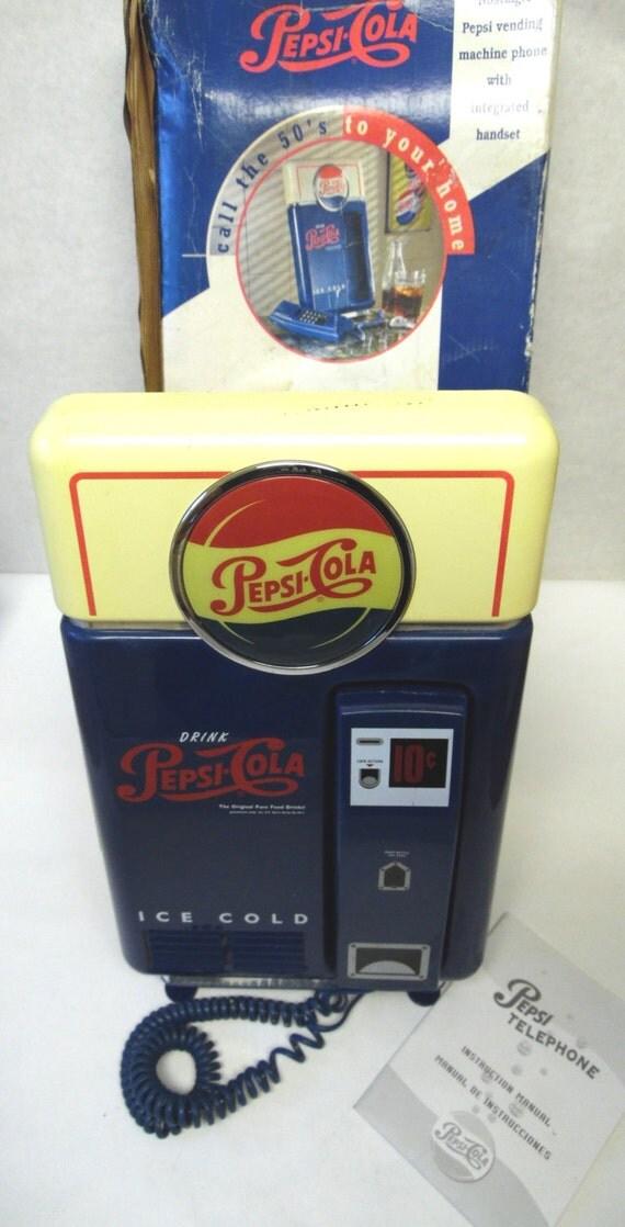 Pepsi Cola Vending Machine Telephone Memorabilia