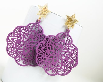 Buy 3 Get 1 FREE/ Orchid Princess Laser Cut  Naturally  Beauty from Wood.