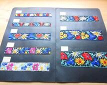 2 Vintage Salesman's Sample Cards Alpine Bavarian Floral Trim