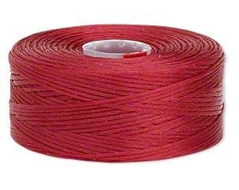 C-Lon Size #D Nylon Beading Thread - Red