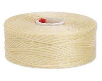 C-Lon Size #D Nylon Beading Thread - Dark Cream