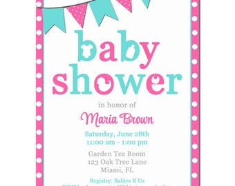Baby Shower Invitation Printable or Printed with FREE SHIPPING - Baby Shower Collection
