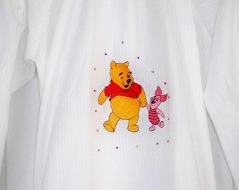 Winnie the Pooh Piglet shirt Rabbit Nightgown with rhinestone jewels