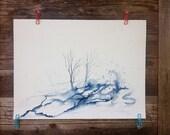 Contrast - Original Watercolor - 18inx24in