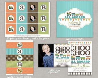 Train Birthday Party, Train Birthday Decorations, Train Party Package, Choo Choo Train, Printable