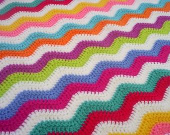 crochet granny ripple blanket babyblanket snuggle blanket