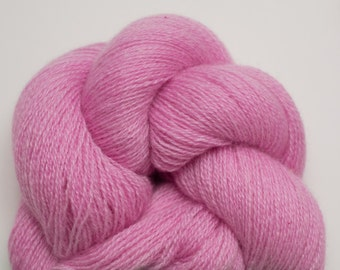 Cashmere Yarn, Berry Pink Recycled Lace Weight Cashmere Yarn, 671 Yards Available, Pink Lace Weight Cashmere