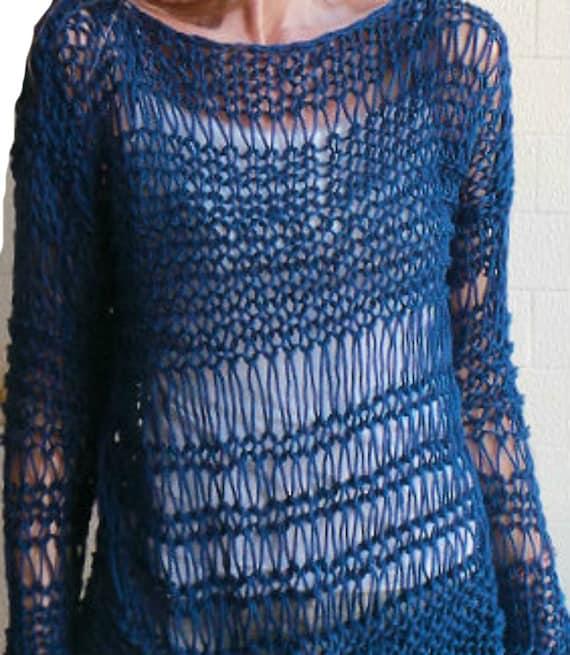 Baggy Sweater Easy Knitting Pattern PDF Pattern Oversized Sweater Loose Sweat...
