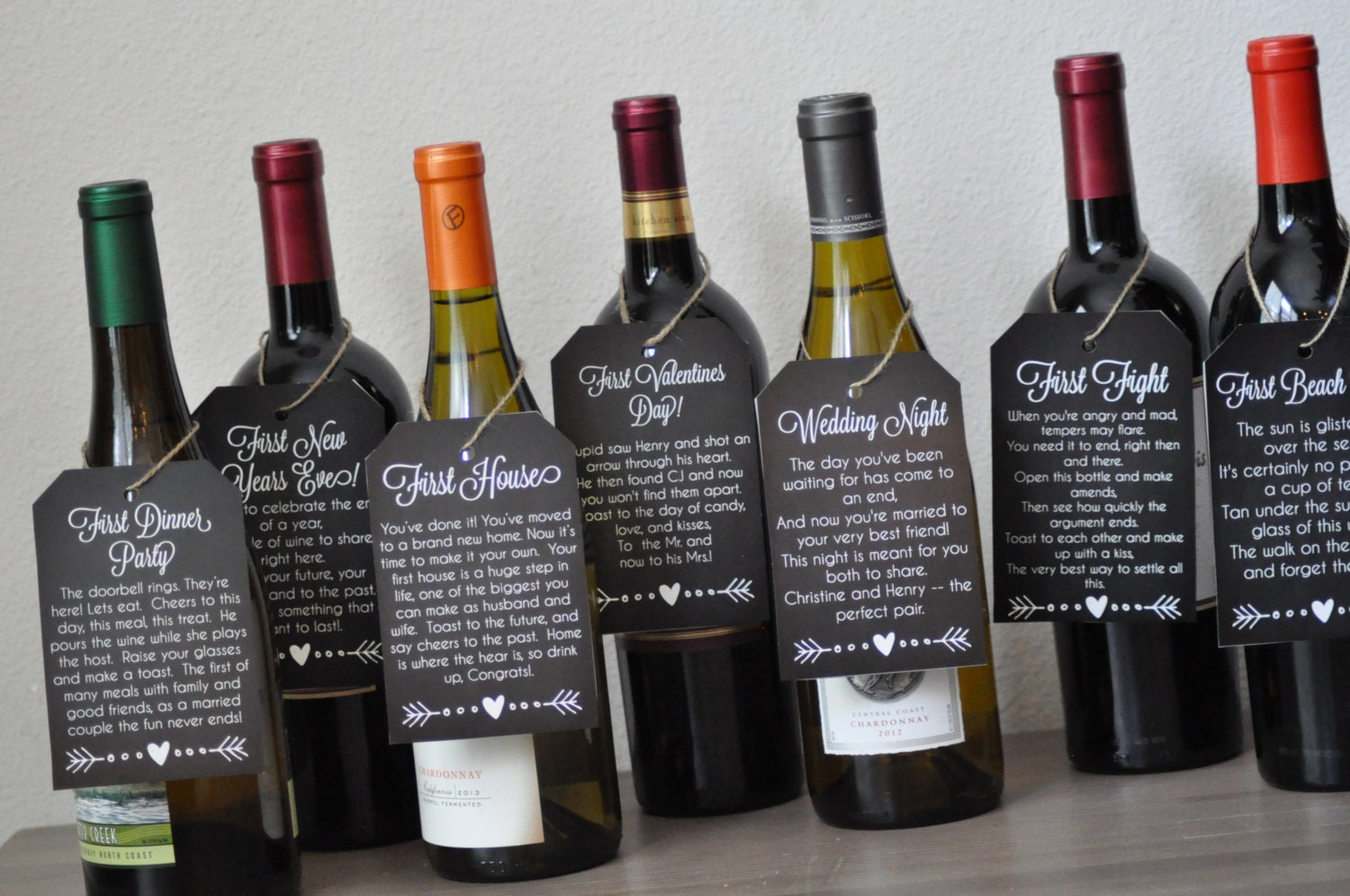 It is a picture of Magic Free Printable Wine Tags for Bridal Shower