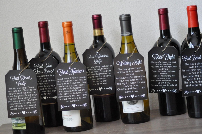 Wedding Gift Bridal Shower Poem Wine Tags Printable