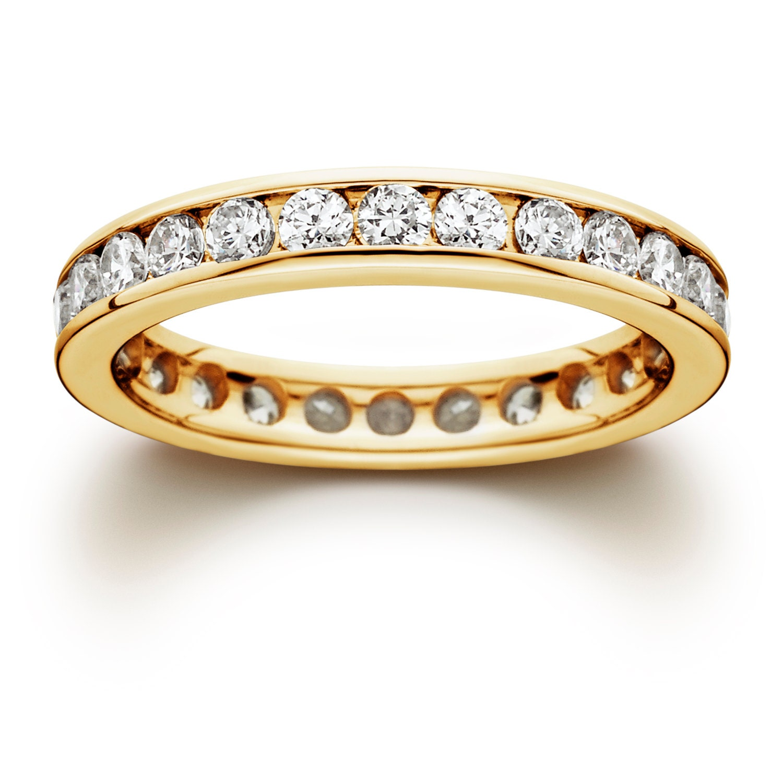 gold diamond ring gold eternity ring yellow gold diamond. Black Bedroom Furniture Sets. Home Design Ideas