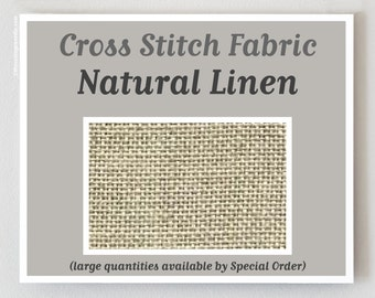 NATURAL RAW counted cross stitch fabric : 28 32 36 40 ct. count linen Zweigart hand embroidery