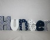 Boy nursery decor, Custom letters, Blue and white decor, 12.00 per letter,  Nursery letters, Baby wood letters, Baby name sign, Wood decor