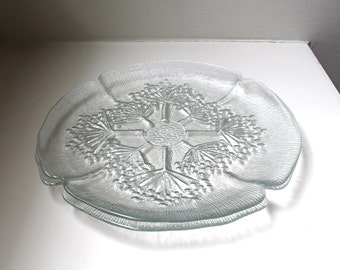 SALE Danish Modern Dansk Floriform Glass Dinner Plates Scandinavian