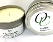 LEMON//Highly Scented SOY CANDLE 6oz Tin