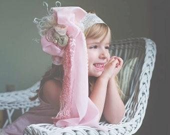 Doll Face Pink Chiffon Headband Bow
