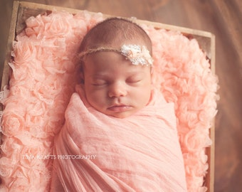Cheesecloth Baby Wrap Premium Photo Prop Wrap for Newborn Baby Girl Soft Peach Summer Spring Fall Choose One Studio Wrap