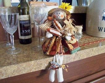 Shelf Sitter Scarecrow Doll