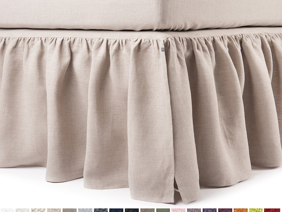 linen dust ruffle queen bedskirt king bed skirt double size. Black Bedroom Furniture Sets. Home Design Ideas
