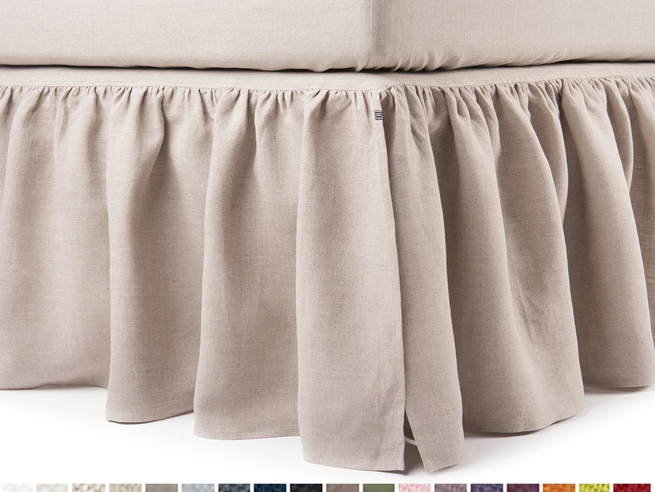 king bed skirt linen dust ruffle bedskirt king bed skirt size 980