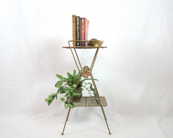 Mid century modern mcm telephone stand plant shelf rustic for What does mcm the designer stand for