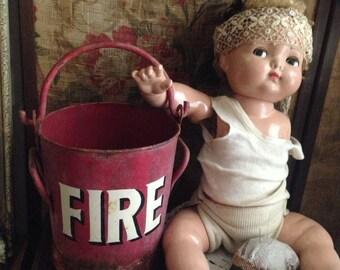 Antique Vintage Petite Fire Bucket