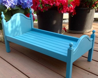 """American Girl Doll: Furniture blue bed for the 18""""  doll"""