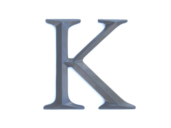 Wall Decor Letter K : Letter k sign large wall decor