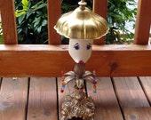Garden art, metal sculpture, garden lady, whimsy, whimsical, yard art, repurposed, OOAK