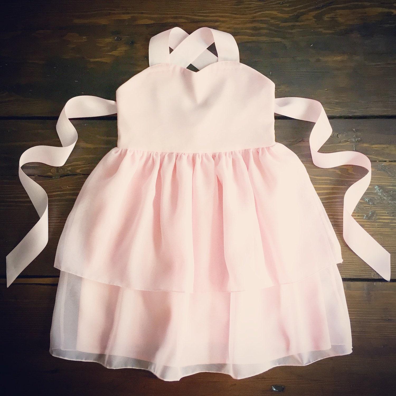 Blush Chiffon Flower Girl Dress Light Pink Toddler chiffon