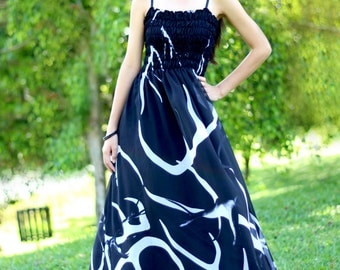 Black Maxi Dress - Chiffon Dress Women Maxi Dresses Prom Plus Size Sundress