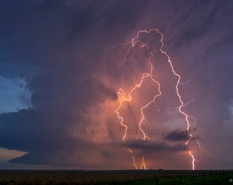 Kansas Supercell with awesome lightning