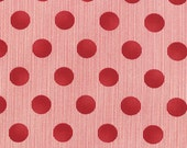Mama Said Sew Dots in Apple Red, Sweetwater, Moda Fabrics, 100% Cotton Fabric, 5497 21