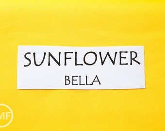 One Yard Sunflower Bella Cotton Solid Fabric from Moda, 9900 221