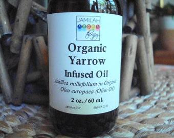 Organic Yarrow Oil, Season's Best Infusion - Massage Oil, Strains, Muscular Aches - Achillea millefolium, Organic Olive Oil, Yarrow Oil