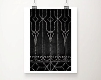 Venice photograph dark art black and white photography architectural detail geometric photograph Venice print Italian decor