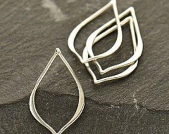 Teardrop - Tiny Sterling Silver Pointed Teardrop Link  - cj2982, Circle, Figure Eight Link, Earring Link, Earring Links, Connector Link