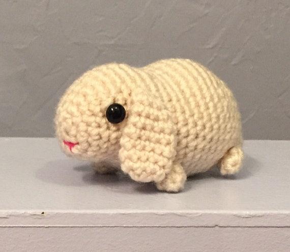 Lop Ear Bunny Stuffed Animal Amigurumi Rabbit crocheted