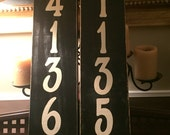 Custom Vertical Custom House Address Number Sign Plaque Personalized HP Wooden You Pick from 10+ Colors Vertical OR Horizontal