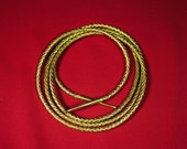 Lasso of truth,Lynda Carter woman costume accessory, Gold Leather braided rope  5,8,10 foot lengths