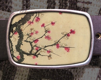 Cherry Blossoms Belt Buckle - 621