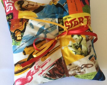 Star Trek Comic Con Geek Wedding Ring Cushion Pillow