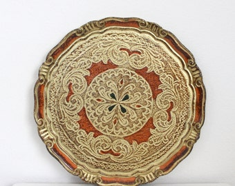 Florentia Gold Charger Tray Italy