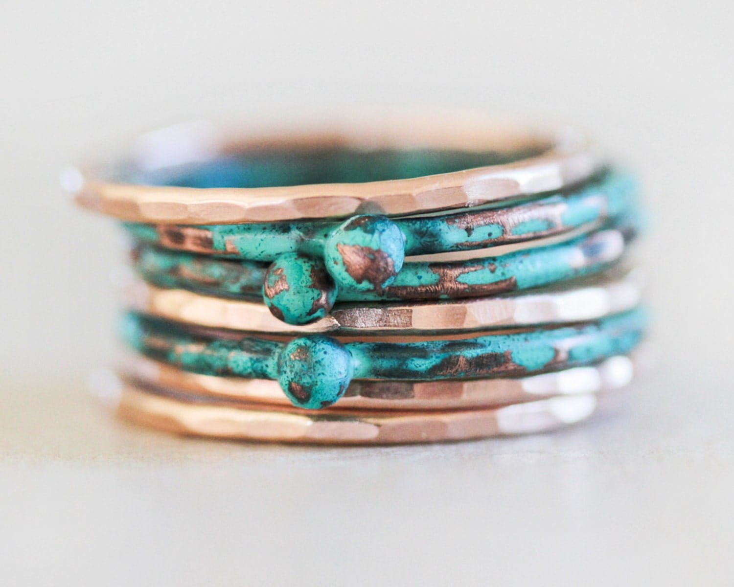 stacking rings stackable rings mint stacking ring rose. Black Bedroom Furniture Sets. Home Design Ideas