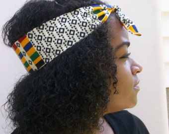 Kente Headband, African Headband, African Print Headband, Hairband, Hair Accessory, African Hairband, Tribal Headband, African Head Wrap