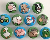 Farmland Drawer Pulls / Dresser Knobs / Closet Handles (Tractor, Cow, Pig, Sheep, Goat) for Kids Rooms and Nursery Rooms